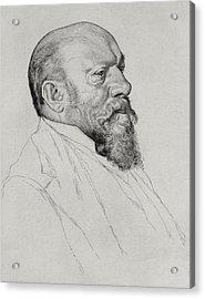 Portrait Of Hans Richter Acrylic Print by William Strang