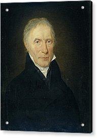Portrait Of Heinrich Gottfried Theodor Crone Acrylic Print