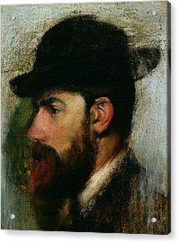 Portrait Of Henri Rouart Acrylic Print by Edgar Degas