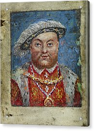Portrait Of Henry Viii Acrylic Print by British Library