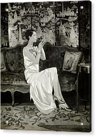Portrait Of Ilka Chase Wearing Dress By Chanel Acrylic Print by Charles Sheeler