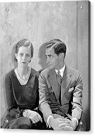 Portrait Of Irving Berlin And His Wife Acrylic Print by Cecil Beaton