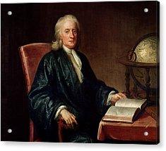 Portrait Of Isaac Newton Acrylic Print by Enoch Seeman
