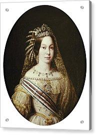 Portrait Of Isabella II. 1848. Oil Acrylic Print by Everett