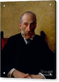 Portrait Of Isidor Gewitsch Acrylic Print by Celestial Images