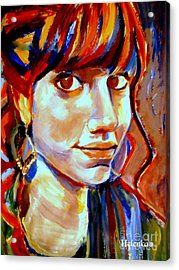 Acrylic Print featuring the painting Portrait Of Ivana by Helena Wierzbicki