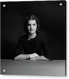 Portrait Of Jacqueline Bouvier Acrylic Print by Richard Rutledge