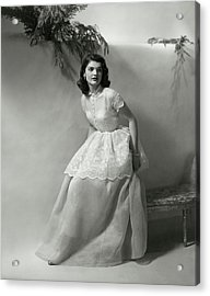 Portrait Of Jacqueline Kennedy Onassis Acrylic Print
