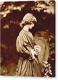 Portrait Of Jane Morris Acrylic Print by John Parsons