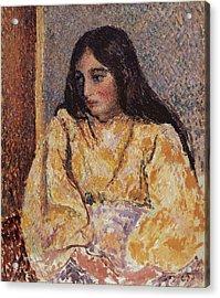 Portrait Of Jeanne, Circa 1893 Acrylic Print by Camille Pissarro