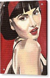 Portrait Of Jenny Bauer Acrylic Print