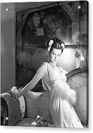 Portrait Of Joan Bennett In Costume Acrylic Print by Horst P. Horst