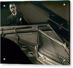 Portrait Of Jose Iturbi Sitting At His Piano Acrylic Print