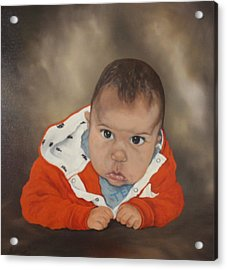 Acrylic Print featuring the painting Portrait Of Joshua by Jean Walker