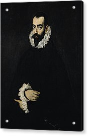 Portrait Of Juan Alfonso De Pimentel Y Herrera, 8th Conde De Benavente D.1621 Acrylic Print by El Greco