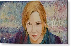 Portrait Of Kat Magda Acrylic Print by Ron Richard Baviello