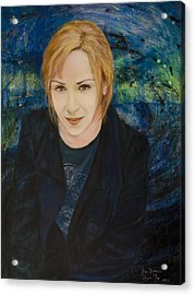 Portrait Of Katarzyna Magda Acrylic Print by Ron Richard Baviello