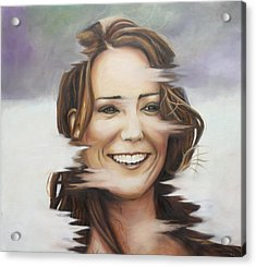 Portrait Of Kate Middleton Acrylic Print by Ah Shui