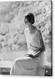 Portrait Of Laura Biddle Acrylic Print