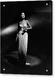 Portrait Of Lena Horne Acrylic Print by John Rawlings