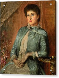 Portrait Of Lillie Langtry Acrylic Print by George Frank Miles