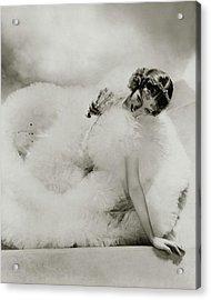 Portrait Of Loretta Young Acrylic Print by George Hoyningen-Huene