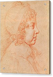 Portrait Of Louis Xiv As A Child Red Chalk On Paper Acrylic Print by Philippe de Champaigne