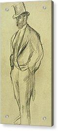 Portrait Of Ludovic Halevy Acrylic Print by Edgar Degas