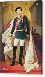 Portrait Of Ludwig II 1845-86of Bavaria In Uniform, 1865 Oil On Canvas Acrylic Print