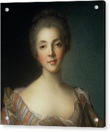 Portrait Of Madame Dupin Acrylic Print by Jean-Marc Nattier