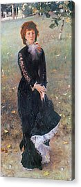 Portrait Of Madame Edouard Pailleron Acrylic Print by John Singer Sargent