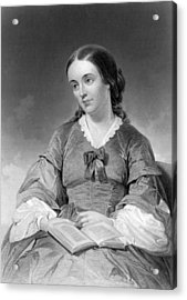 Portrait Of Margaret Fuller Acrylic Print