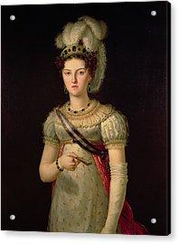 Portrait Of Maria Josephine Amalia Of Saxony Acrylic Print by Francisco Lacoma