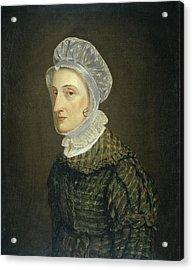 Portrait Of Maria Petronella Mann, Wife Of Heinrich Acrylic Print