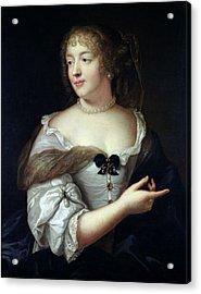 Portrait Of Marie De Rabutin-chantal, Madame De Sevigne 1626-96 Oil On Canvas Acrylic Print