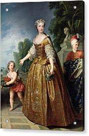 Portrait Of Marie Leczinska 1703-68 After 1725 Oil On Canvas Acrylic Print