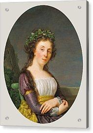 Portrait Of Marie-louise Joubert, Neé Poulletier De Acrylic Print by Litz Collection