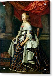 Portrait Of Marie-therese 1638-83 Of Austria, After 1660 Oil On Canvas Acrylic Print