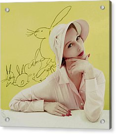 Portrait Of Mary Jane Russell Acrylic Print by Frances Mclaughlin-Gill