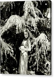 Portrait Of Maureen O'sullivan Acrylic Print by Edward Steichen