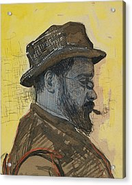 Portrait Of Maximilien Luce Acrylic Print by Paul Signac