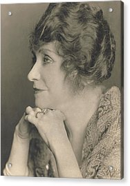 Portrait Of Minnie Maddern Fiske Acrylic Print