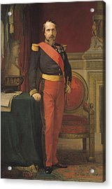 Portrait Of Napoleon IIi 1808-73 1862 Oil On Canvas Acrylic Print
