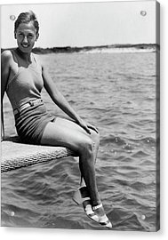 Portrait Of Olympic Swimmer Lenore Kight Acrylic Print