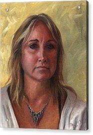 Portrait Of Paula Acrylic Print by Terri  Meyer