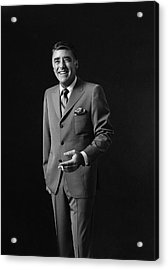 Portrait Of Peter Lawford Acrylic Print by Leonard Nones