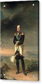 Portrait Of Prince Mikhail Barclay De Tolly 1761-1818, 1829 Oil On Canvas Acrylic Print by George Dawe