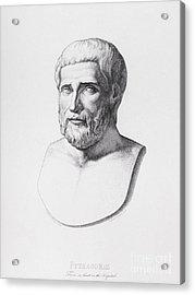 Portrait Of Pythagoras Acrylic Print by CC Perkins
