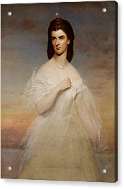 Portrait Of Queen Maria Sophia Of Naples Acrylic Print by Franz Xaver Winterhalter