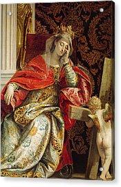 Portrait Of Saint Helena Acrylic Print by Veronese